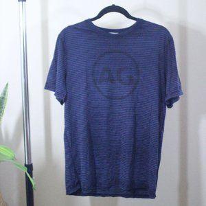 Adriano Goldschmied AG Logo Striped Shirt Size XL